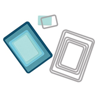 Sizzix Framelits Rectangles Die Set by Rachael Bright (6 Pack)