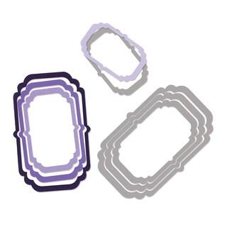 Sizzix Framelits Frames/ Decorative Die Set by Rachael Bright (4 Pack)