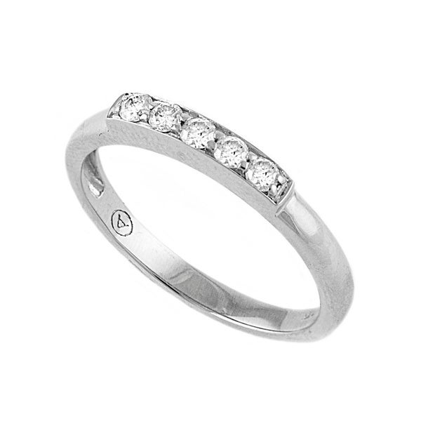 Beverly Hills Charm 10K Gold 1/5ct TDW Diamond Stackable Band Ring