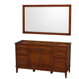 Wyndham Collection Hatton 60-inch Light Chestnut Single Vanity