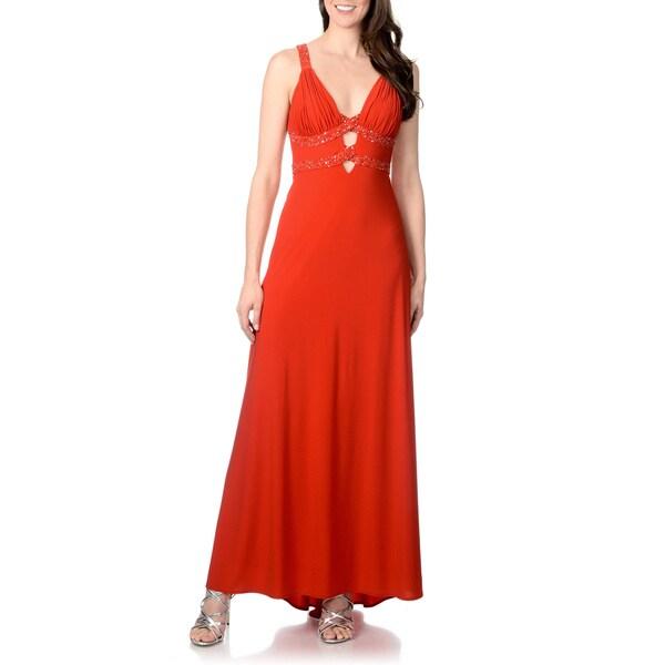 Morgan & Co. Junior Criss-cross Back Dress