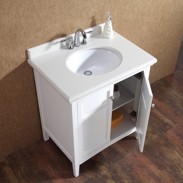 30 Inch Bathroom Vanity With Granite Top ove decors campo 30-inch single sink bathroom vanity with granite