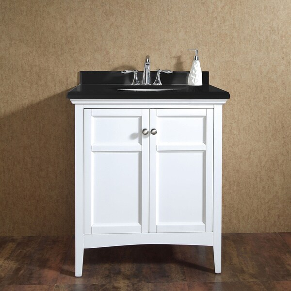 OVE Decors Campo 30 Inch Single Sink Bathroom Vanity With Granite Top