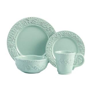 American Atelier Bianca Jade 16-piece Earthenware Dinnerware Set