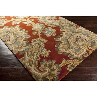 """Hand-Tufted Wool Transitional Paisley Area Rug-(3'3"""" x 5'3"""")"""