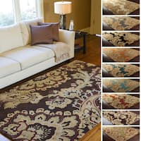 Hand-Tufted Wool Transitional Paisley Area Rug (8' x 11') - 8' x 11'
