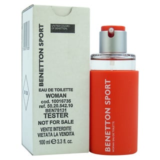 United Colors of Benetton Sport Women's 3.3-ounce Eau de Toilette Spray (Tester)