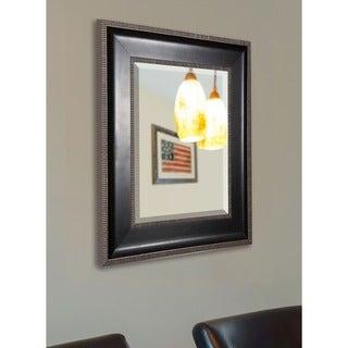 American Made Rayne Modern Black and Silver Vanity Wall Mirror