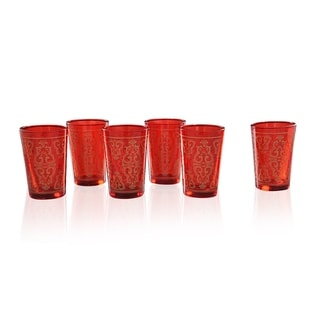 Red Moroccan Tea Glass Set (India)