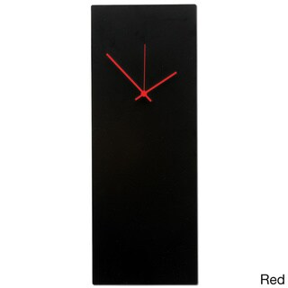 Large Blackout Modern Black Metal Wall Clock