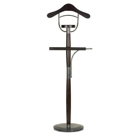 Cortesi Home Winfield Executive Marble Base Suit Rack and Valet Stand