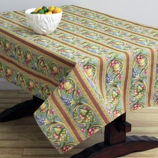 Corona Decor Fruit Design Turquoise 50x90-inch Italian Heavy Weight Tablecloth