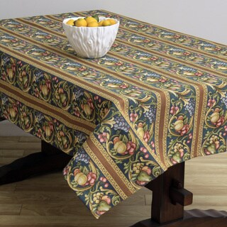 Corona Decor Fruit Design Blue 50x90-inch Italian Heavy Weight Tablecloth