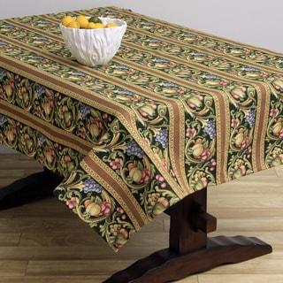 Corona Decor Fruit Design Emerald 50x90-inch Italian Heavy Weight Tablecloth