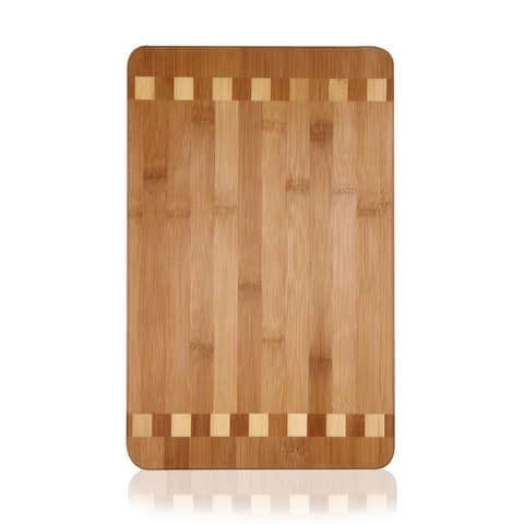 Adeco 100-percent Natural Bamboo 0.7-inch Thick Chopping Board