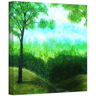 ArtWall Herb Dickinson 'Christians Road' Gallery-Wrapped Canvas