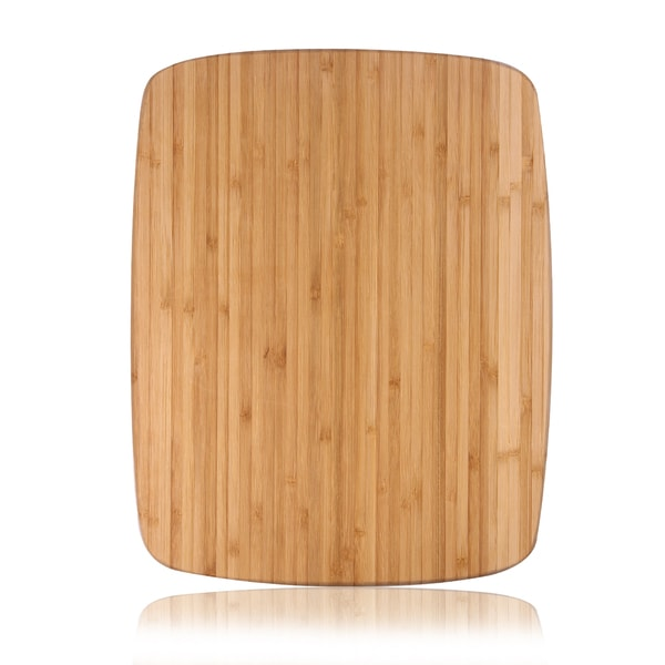 Adeco 100-percent Natural Bamboo 0.8-inch Thick Chopping Board