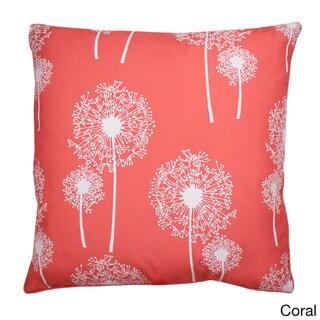 Dandelion Glitter Print 20-inch Feather Fill Throw Pillow