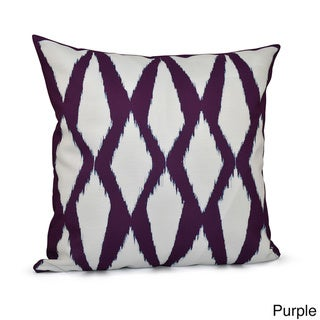 20 x 20-inch Diamond Geometric Decorative Throw Pillow (Purple)