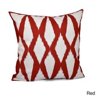 20 x 20-inch Diamond Geometric Decorative Throw Pillow (Red)
