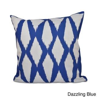 20 x 20-inch Diamond Geometric Decorative Throw Pillow (Dazzling Blue)