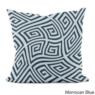 20 x 20-inch Radiant Orchid Geometric Decorative Throw Pillow (Morrocan Blue)