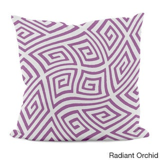 20 x 20-inch Radiant Orchid Geometric Decorative Throw Pillow (Radiant Orchid)