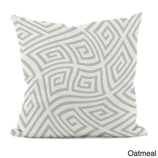 20 x 20-inch Radiant Orchid Geometric Decorative Throw Pillow (Oatmeal-20)