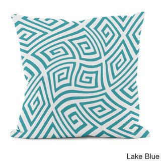 20 x 20-inch Radiant Orchid Geometric Decorative Throw Pillow (Lake Blue)