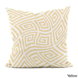 20 x 20-inch Radiant Orchid Geometric Decorative Throw Pillow (Yellow)