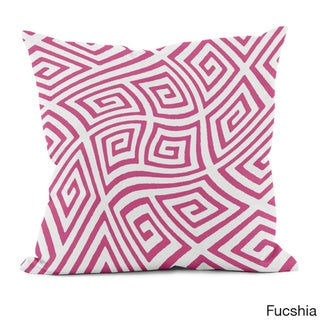 20 x 20-inch Radiant Orchid Geometric Decorative Throw Pillow (Fucshia)