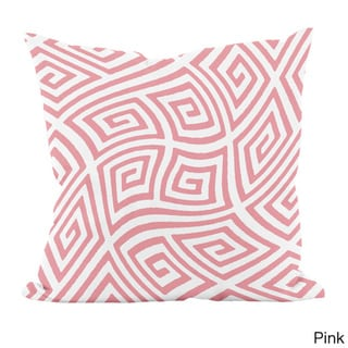 20 x 20-inch Radiant Orchid Geometric Decorative Throw Pillow (Pink)