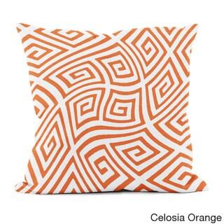20 x 20-inch Radiant Orchid Geometric Decorative Throw Pillow (Celosia Orange)