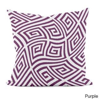 20 x 20-inch Radiant Orchid Geometric Decorative Throw Pillow (Purple)