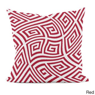 20 x 20-inch Radiant Orchid Geometric Decorative Throw Pillow (Red)