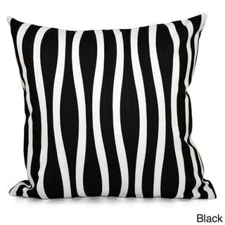 20 x 20-inch Curvy Stripe Decorative Throw Pillow