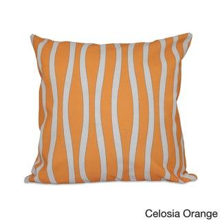 18 x 18-inch Curvy Stripe Decorative Throw Pillow