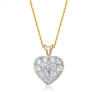 Collette Z Goldplated Sterling Silver Heart Shape Necklace