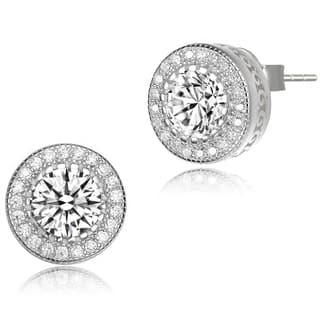 Collette Z Sterling Silver Cubic Zirconia Round Earrings - White|https://ak1.ostkcdn.com/images/products/8901935/Collette-Z-Sterling-Silver-Cubic-Zirconia-Round-Earrings-P16121604.jpg?impolicy=medium