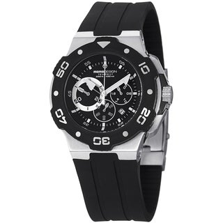 Momo Design Men's MD1004-02BKWT-RB 'Tempest' Black/White Dial Rubber Strap Quartz Watch