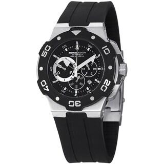 Momo Design Men's MD1004-02BKWT-RB 'Tempest' Black/White Dial Rubber Strap Quartz Watch