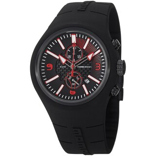Momo Design Men's 'Mirage Chrono' Black Dial Rubber Strap Chronograph Watch