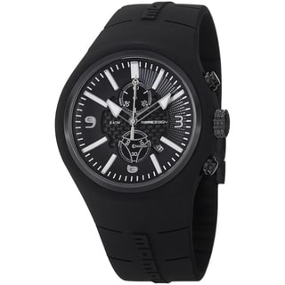 Momo Design Men's MD1009BK-04BKRD-RB 'Mirage Chrono' Black Dial Black Rubber Strap Quartz Watch