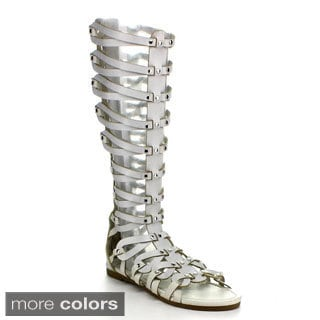 Jacobies Women's 'Roma-10' Mid-calf Gladiator Sandals