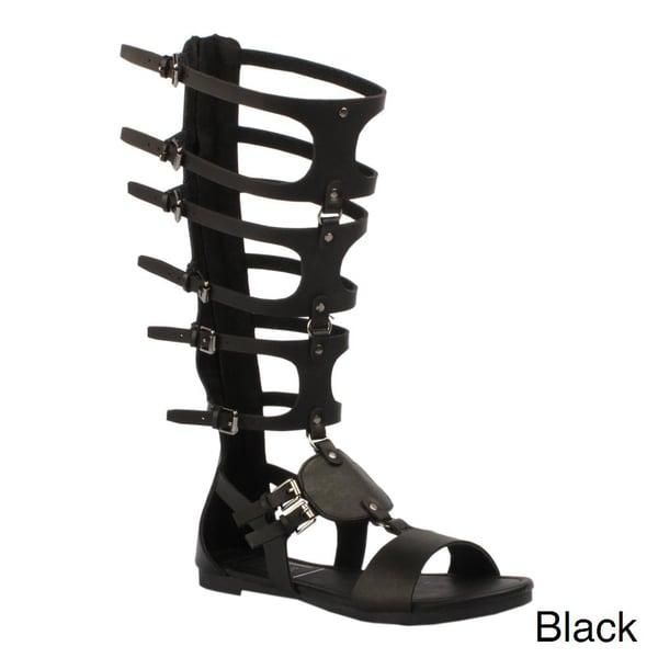 Jacobies Women's 'Roma-11' Knee-high Gladiator Sandals