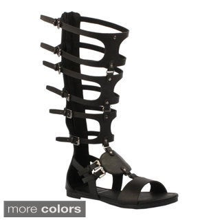 Jacobies Women's 'Roma-11' Knee-high Gladiator Sandals