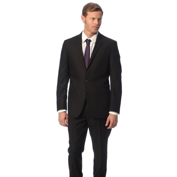 ee9e40dc7e ... Men s Clothing     Suits   Suit Separates     Suits. Kenneth Cole  Reaction Men  x27 s Black Solid ...