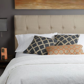 Humble + Haute Stratton Beige Linen Queen Tufted Upholstered Headboard