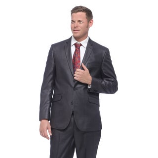 Kenneth Cole Reaction Men's Slim Fit Grey Basketweave Suit