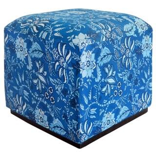Blue Palampore Ottoman